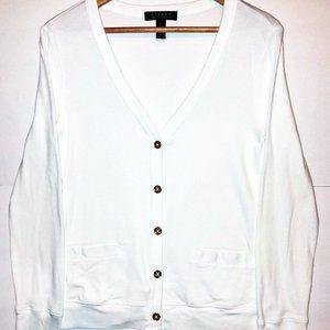 Lauren Ralph Lauren Women's White Cardigan Small